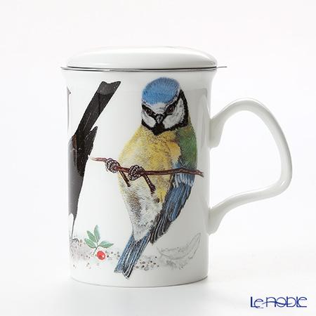 Roy Kirkham Garden Birds Infuser Mug, A-Blue