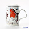 Roy Kirkham Garden Birds Infuser Mug, B-Red