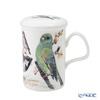 Roy Kirkham Garden Birds Infuser Mug, C-Green