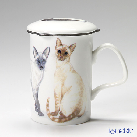 Roy Kirkham Cat Galore Infuser Mug, Siamese