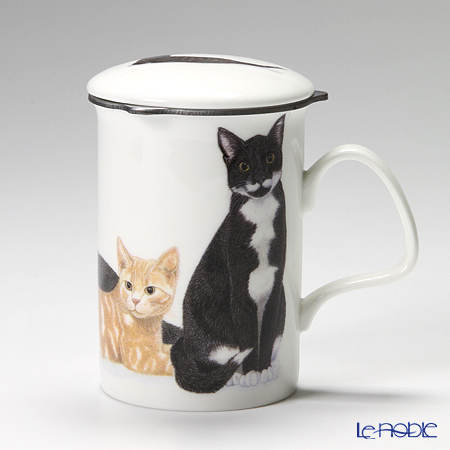 Roy Kirkham Cat Galore Infuser Mug, 2 colors Bicolour