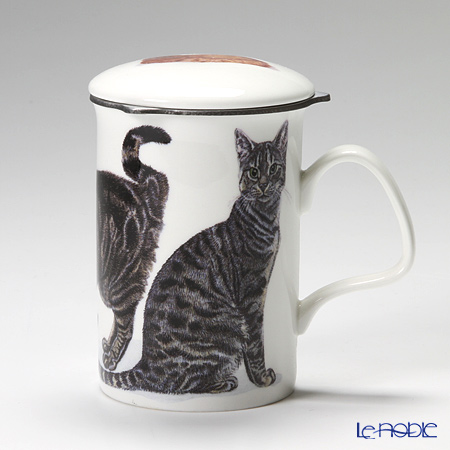 Roy Kirkham Cat Galore Infuser Mug, Tabbies