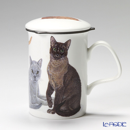 Roy Kirkham Cat Galore Infuser Mug, European Burmese