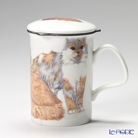 Roy Kirkham Cat Galore Infuser Mug, Longhaired Cats