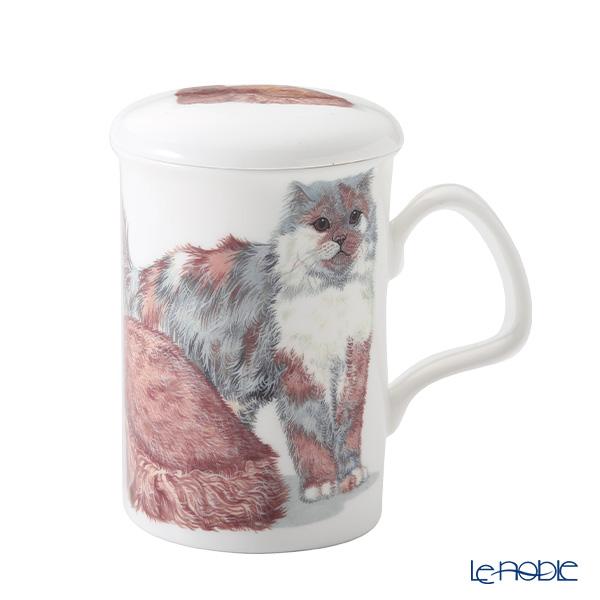 ロイカーカム キャットギャロール Longhaired Cats(長毛猫) こし器付ビーカー 320cc