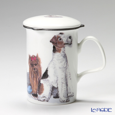 Roy Kirkham Dog Galore Infuser Mug, Terriers