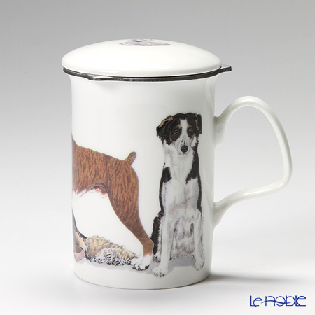 Roy Kirkham Dog Galore Infuser Mug, Working Dogs