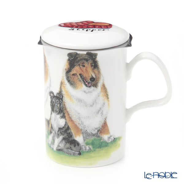Roy Carkham Dog Collection (Cory) Beaker with Strainer 320cc