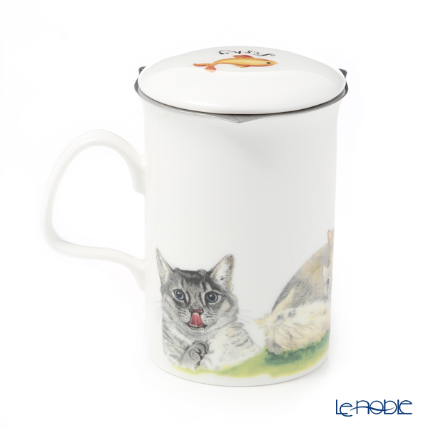 Roy Carr Cam Cat collection (Pheasant Tiger Cats) Beaker with Strainer 320cc