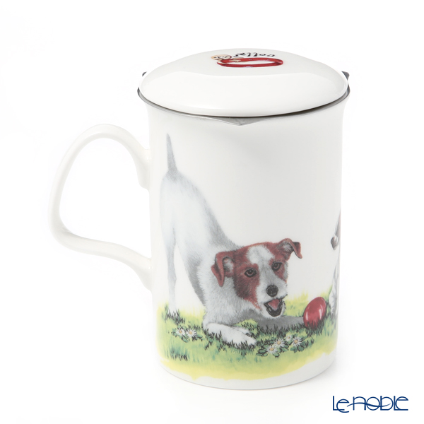 Roy Carkham Dog Collection (Jack Russell) Beaker with Strainer 320cc