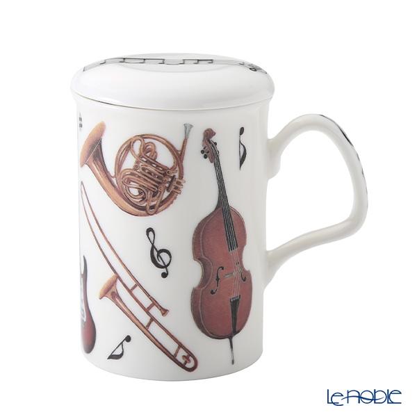 Roy Kirkham 'Concert (Musical Instruments) Violin & Horn' Mug with Infuser & Lid 320ml