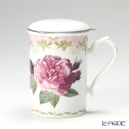Roy Kirkham 'Vintage Rose (Flower)' Pink Mug with Infuser & Lid 320ml