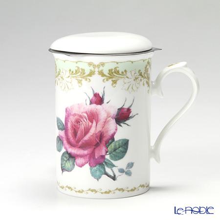 Roy Kirkham 'Vintage Rose (Flower)' Green Mug with Infuser & Lid 320ml