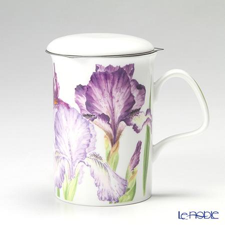Roy Kirkham Iris Infuser Mug, Blue-violet