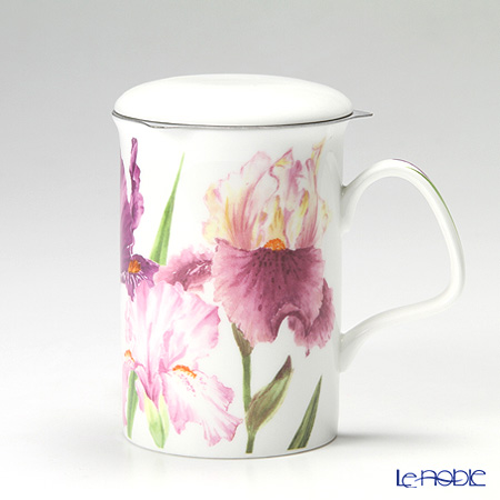 Roy Kirkham Iris Infuser Mug, Red-purple