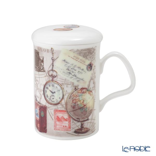 Roy Kirkham 'Pastimes - Globe' Mug with Infuser & Lid 320ml