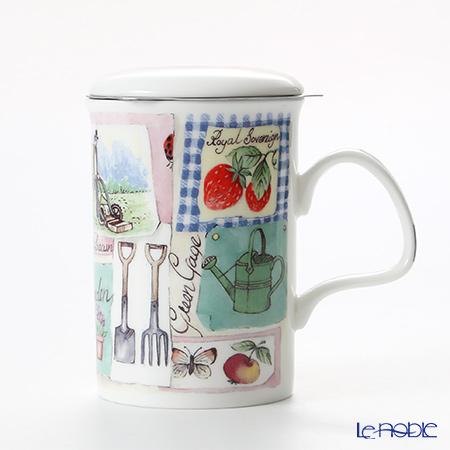 Roy Kirkham My Garden Infuser Mug, strawberry