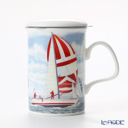 Roy Kirkham Sailing Infuser Mug, yacht-red