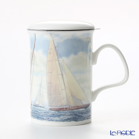 Roy Kirkham Sailing Infuser Mug, yacht-white