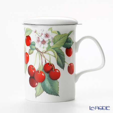 Roy Kirkham Cherry Infuser Mug, red