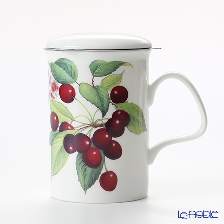 Roy Kirkham Cherry Infuser Mug, purple