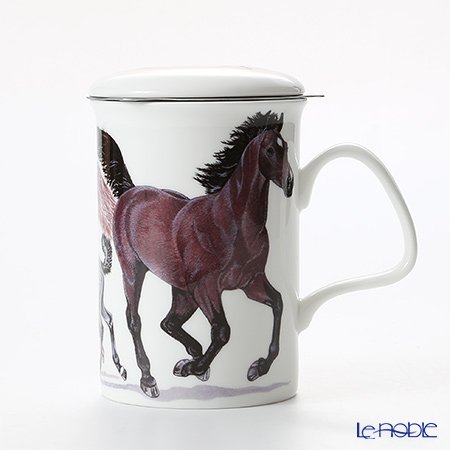 Roy Kirkham Horses Infuser Mug, brown