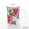 Roy Kirkham Camellia Infuser Mug, blue