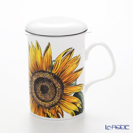 Roy Kirkham 'Botanica - Sun Glower' Mug with Infuser & Lid 320ml