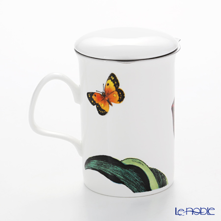 Roy Kirkham 'Botanica - Red Tulip (Flower)' Mug with Infuser & Lid 320ml