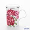 Roy Kirkham Hydrangea Infuser Mug, pink