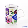 Roy Kirkham Pansy Pink & White Strainer with beaker 320 cc