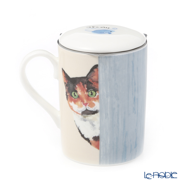Roy Carr Cam cat through the door (calico) Beaker with strainer, Lucy 325cc