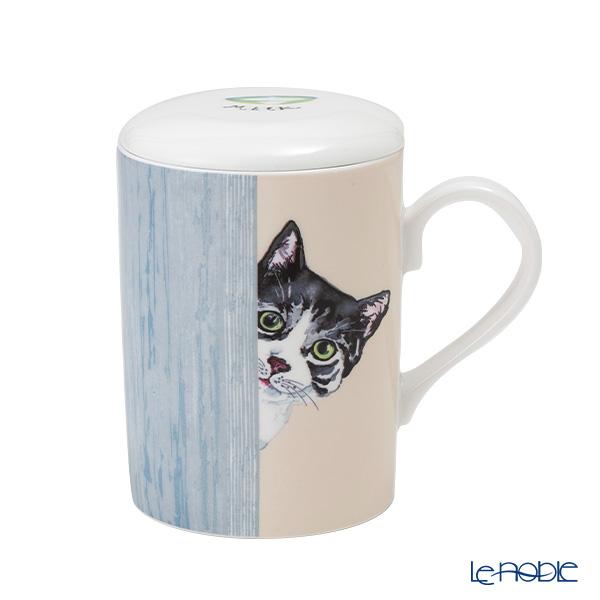 Roy Carr Cam cat through the door (Sabatra white) Beaker with strainer, Lucy 325cc