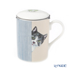 Roy Carr Cam cat through the door (Sabatra white) Beaker with strainer, Lucy 325cc