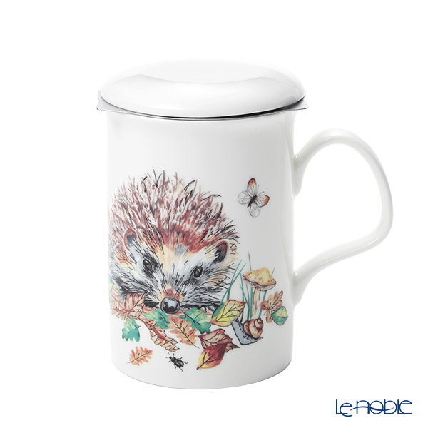 Roy Kirkham 'Hedgehog with Butterfly' B Mug with Infuser & Lid 320ml