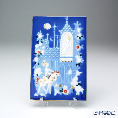 マイセン(Meissen) 陶板 青のメルヘン 930006/9p332いばら姫(額無)