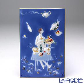 マイセン(Meissen) 陶板 青のメルヘン 930007/9p333 魔法の食卓(額無)