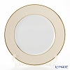 Augarten 'Coloured Border' Champagne Cream / Gold rim - Thin line) [Schubert shape] Charger Plate 28cm