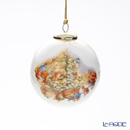 ロイター・ポーセリン ビアトリクスポター クリスマスパーティー 52153/0 オーナメント ボール 8cm