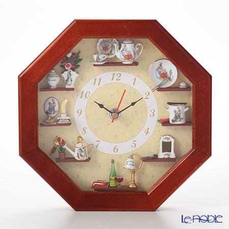 Reutter Porzellan 'Beatrix Potter - Peter Rabbit' 56.668/0 Miniatures Octagonal Wall Clock (Wine)