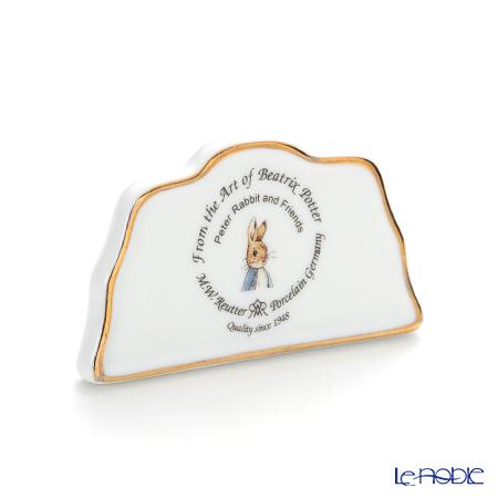Reutter Porzellan From the World of Beatrix Potter Peter Rabbit's logo plate 060004/0