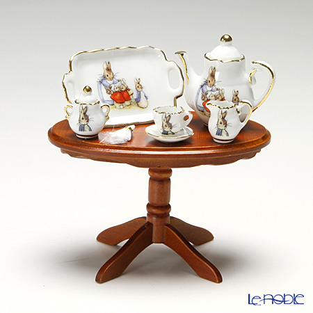 Reutter Porzellan Beatrix Potter Peter Rabbit's Miniature Coffee Table Set 060821/0
