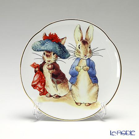 Reutter Porzellan 'Beatrix Potter - Benjamin Bunny & Peter Rabbit' 61.530/3 Plate 15cm with plate stand