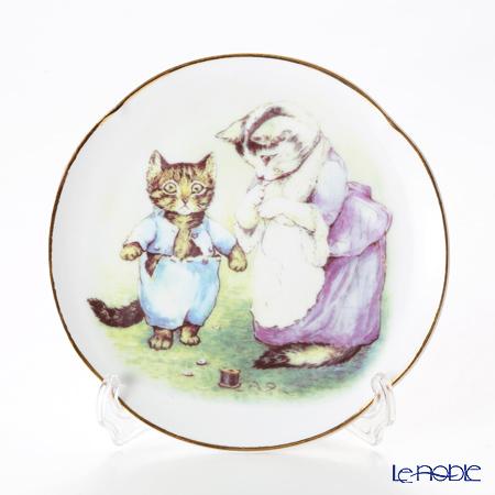 ロイター・ポーセリン ビアトリクスポター 058530/3-II(ボタン) 子猫のトム プレート 15cm プレート立て付