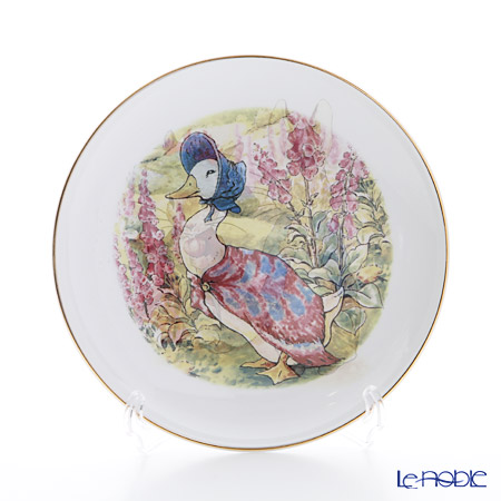 Reutter Porzellan 'Beatrix Potter - Jemima Puddle-Duck (Peter Rabbit) 62.530/3 Plate 17cm with plate stand