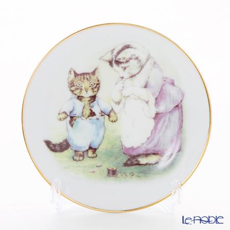 ロイター・ポーセリン ビアトリクスポター 058530/3-2(ボタン) 子猫のトム プレート 15cm プレート立て付 new shape