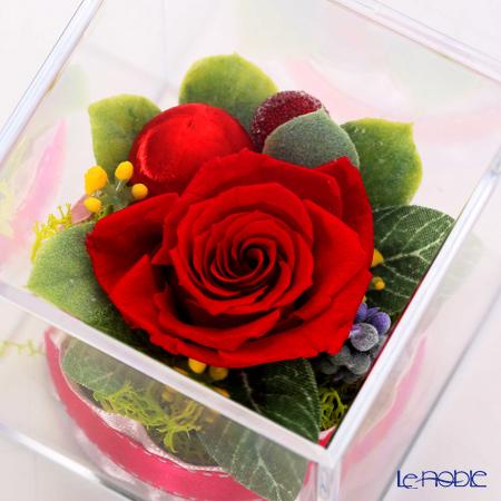 プリザーブドフラワーローズアクリルBOX FK24※お花の色味は3種類。そのうちいずれかとなります。