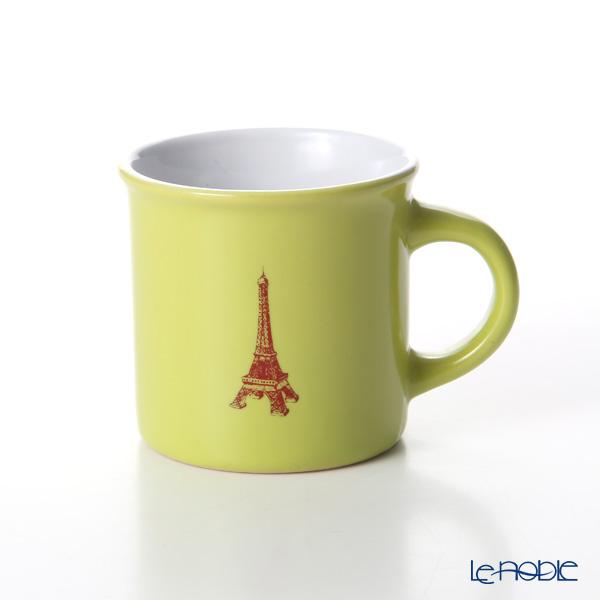 Nothing as Paris 'Yellow Green / White / Dark Red' Mini Mug