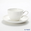 Primobianco 'White' Flower shape Tea Cup & Saucer 150ml