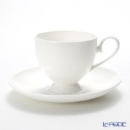 プリモビアンコ 白の器コーヒーカップ&ソーサー(フーテッドシェイプ)